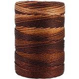 Iris 18-483 Nylon Crochet Thread, 197-Yard, Brown Mix: more info