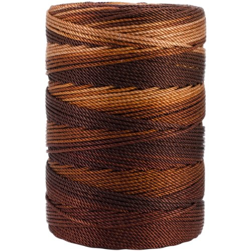 Iris 18-483 Nylon Crochet Thread, 197-Yard, Brown Mix ()