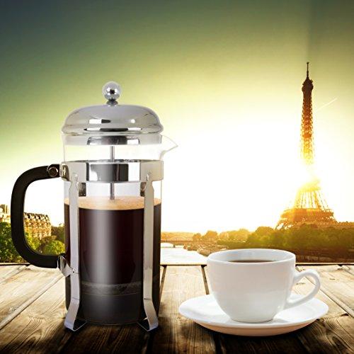 Mr. Kitchen French Press; Glass Coffee Press, 8 Cup / 32  oz