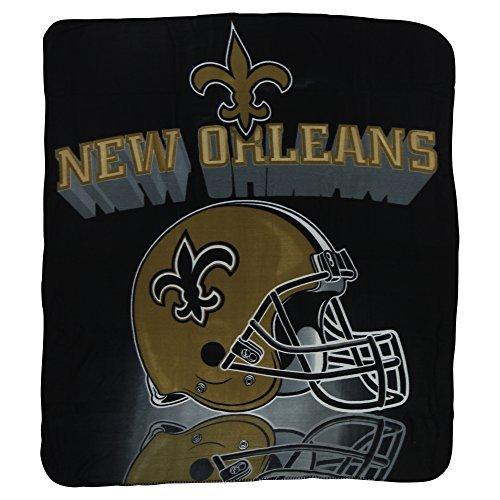 New Orleans Saints Lightweight Fleece Blanket (Measures Approx. 50