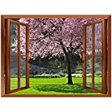 """wall26 Cherry Blossom in Spring Removable Wall Sticker/Wall Mural - 36""""x48"""""""