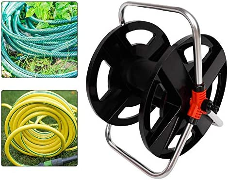 Hose Reel, Water Pipe Car Roll 35 Meters Water Pipe Storage Shelf Hose Reel Rope Storage Rack,Easy to Store and Easy to Move