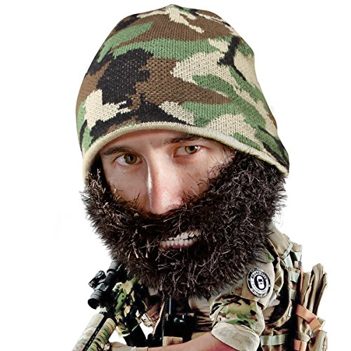 Beard Head Bushy Duke Beard Beanie - Camouflage Hat and Fake Beard -