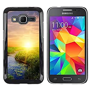 LECELL -- Funda protectora / Cubierta / Piel For Samsung Galaxy Core Prime SM-G360 -- Nature Sunset Beauty --