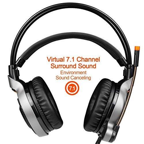 Channel Surround Headphones Sensitivity Noise Canceling