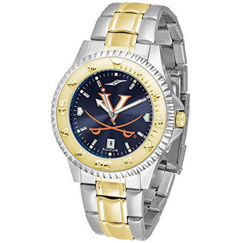 Virginia Cavaliers Competitor Two-Tone AnoChrome Men's Watch (Watch Virginia Competitor)