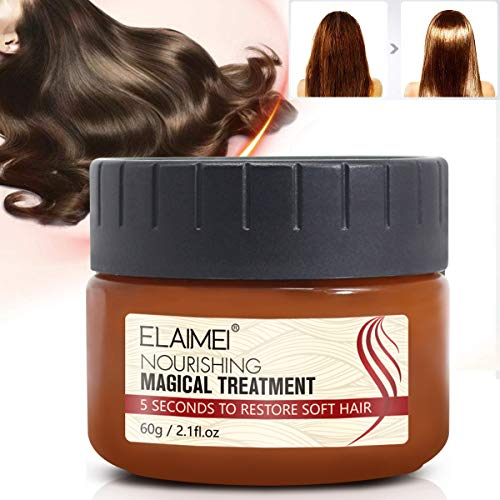 Magical Keratin Hair Treatment Mask, 2019 Magical Hair Mask 5 Seconds Repairs Damage Hair Root Hair Tonic Keratin Hair & Scalp Treatment 60ML