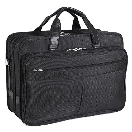 mpartment Laptop Case, Leather, Small, Black - WALTON | McKlein - 73985 ()