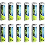 PowerDriver 1000mAh Aa Rechargeable NiCD Ni-CD Batteries for Toys Flashlights Solar Lamp Lights Microphone Ecectronic Dictionary Calculator Headset (12)