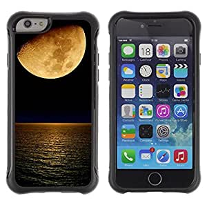 Paccase / Suave TPU GEL Caso Carcasa de Protección Funda para - Moon Ski Night Crescent Ocean Night - Apple Iphone 6 PLUS 5.5