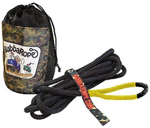 Bubba's ATV/UTV Kinetic Snatch Rope with Carry Bag – 1/2 inch X 20 ft (12.5mm x 6m long) (VEHICLE RECOVERY)