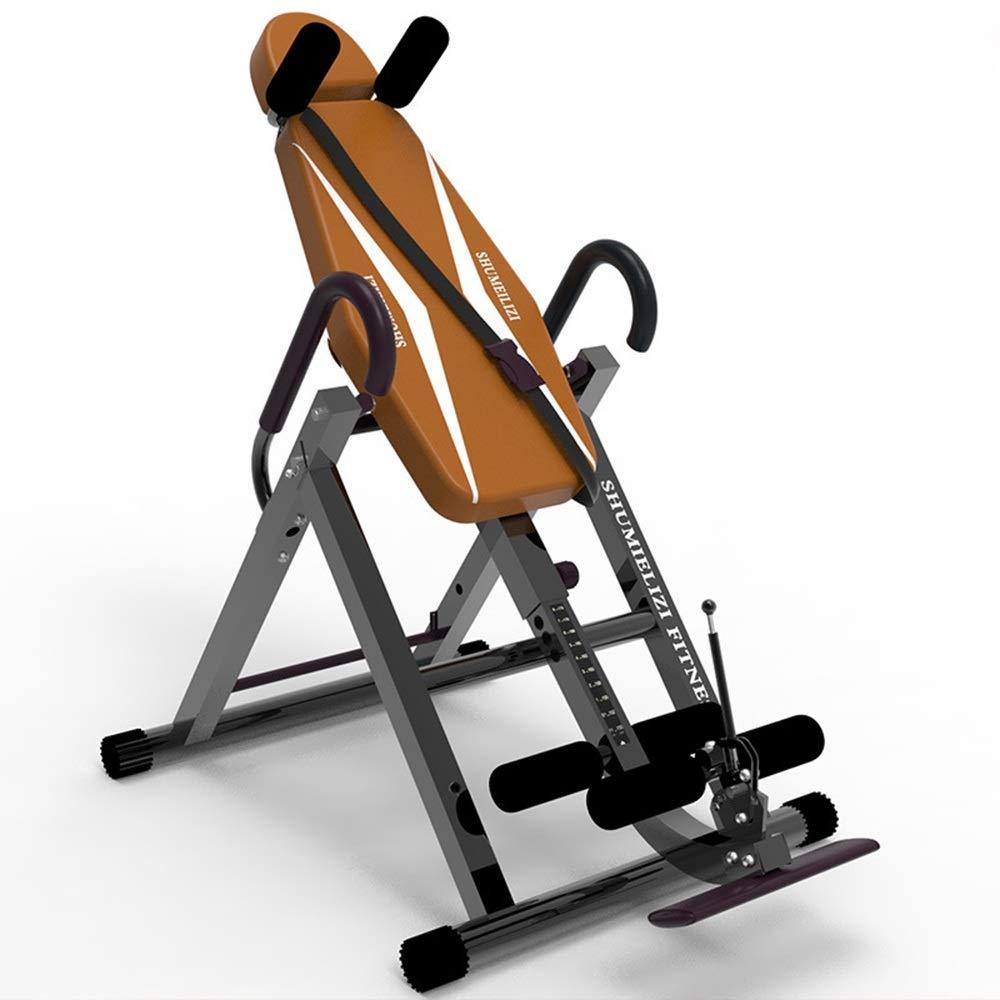 逆さぶら下がり健康器 超厚い背部サポートの逆のテーブルの振動慰めの背部伸張機械 逆立ち健康法 (色 : カーキ, サイズ : 110*70*105cm) カーキ 110*70*105cm