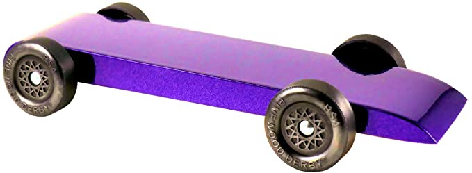 Painted Purple Hellcat by Pinewood Pro Sealed and Weighted Pine Derby Car Kit with PRO Graphite for use in Pinewood Derby