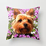 Slimmingpiggy 16 X 16 Inches / 40 By 40 Cm Dogs Throw Christmas Pillow Covers Double Sides Is Fit For Father Indoor Club Dance Room Birthday Monther