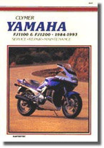 m397 clymer yamaha fj1100 fj1200 1984 1993 motorcycle repair manual rh amazon com 1984 yamaha fj1100 service manual Custom Yamaha Bobber