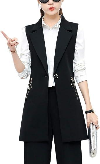 Chaleco Sin Mangas con Mujer Bolsillos Chaqueta para Chaleco