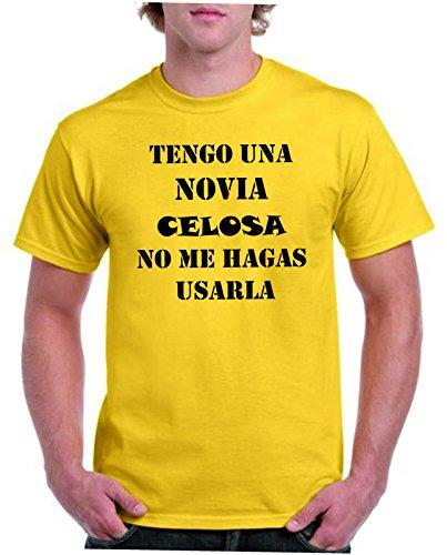 Camisetas divertidas Parent Tengo Una Novia celosa, No Me hagas a Usarla - Para Hombre Camiseta: Amazon.es: Ropa y accesorios