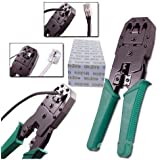 Lapmate 3 In 1 Modular Crimping Tool, Rj45, Rj11 Cat5E/Cat6 Lan Cutter With Cable Cutter