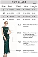 BABEYOND Women's 1920s Vintage Long Sequined Evening Dress Roaring 20s Flapper Gatsby Dress for Costume Party