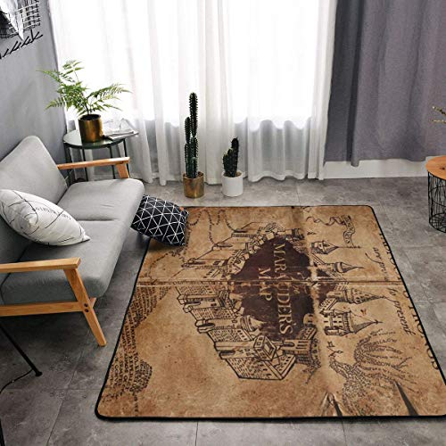 YOUNG H0ME I Like Exercise Marauders Map Kitchen Rugs Memory Foam Doormat Floor Mat with Non-Slip Rubber Backing, Quick Dry Tub Shower Bath Rug Standing Mat Home Art Ultra-Soft Standing Mat