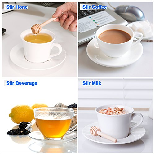 30 PCS Mini Wood Honey Dipper Sticks, 3 Inch Server for Honey Jar Dispense Drizzle Honey by Petutu (Image #4)