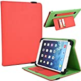 "NuVur Universal Faux Leather ::Rotating:: Folio 10"" inch Tablet Case Fits HP Omni 10, Slate 10 HD