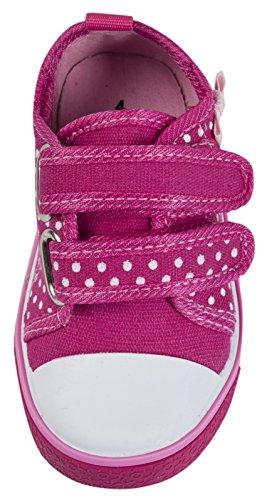 niños Zapatillas de Lunares Rosados niñas con Lora de planas Dora y 22 lona 23 para tallas cordones qUnR4RTt