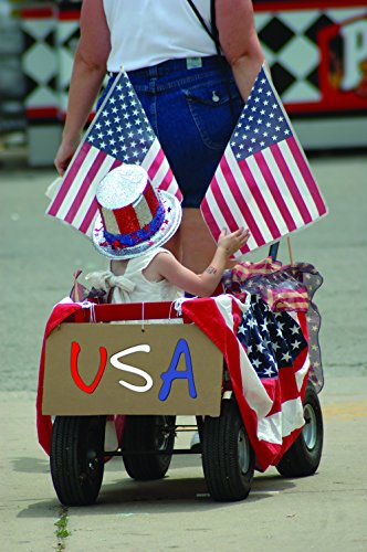 Price comparison product image July 4th Greeting Cards - Patriotic Parade - PP200. Business Greeting Card with an Image of Child in a Wagon During a July 4th Parade. Box Set has 25 Greeting Cards and 26 Red Colored Envelopes.
