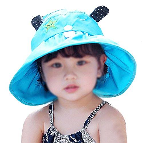 2a5421951b6 Monique Kids Ox Horn Cotton Hat children Wide Brim Sunhat UPF 50+ UV  Protection Sun
