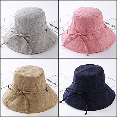 Strap M Gray The Pots 8381 Algodón 56 Tether Mujer Lino Para Yxlmz Light Cap Y Gorro De Pink 58cm 8U6cSwq817