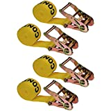 """2"""" X 20' Endless Ratchet Strap with 6k Industrial Grade Webbing - 4 Pack"""
