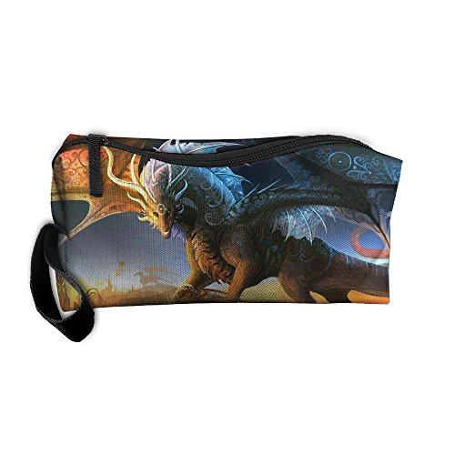 Dragons Fantasy Travel Makeup Bags For Women Cosmetics Case With Zipper