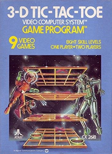 Atari 2600 Game Cartridge - 3-D Tic-Tac-Toe