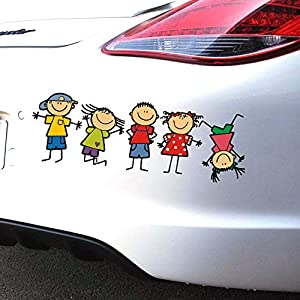 Leofan People Family Car Decals Stickers Decal Vinyl Car Window Wall Sticker Laptop Decal Cute Funny Peep Animal Decorative Stickers (Colorful)