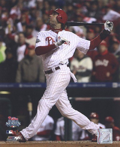 Jayson Werth Game 5 of the 2008 World Series RBI Single - 8x10 Inches - Art Print (Jayson Werth Game)