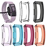 [6 Pack] Protector Case for Fitbit Inspire & Inspire HR, Multi-Colors Clear Soft Flexible TPU Protective Case Ultra-Thin Bumper Shell for Fitbit Inspire/Inspire HR Smartwatch, 6 Colors
