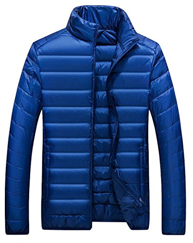 Lightweight Coat Winter Men's Winter Packable Gocgt Down Puffer Jacket Blue Dark waATIqZ