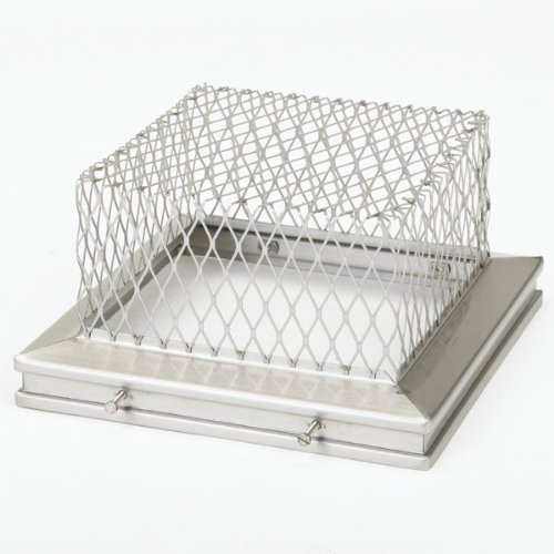 Gelco 13206 13'' x 13'' 18-Gauge Stainless Steel Animal Guard, Stainless Steel