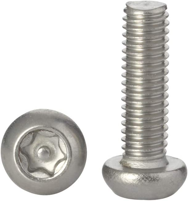 18-8 Stainless Steel Includes bit 20PCS M8 /× 10MM Button Head Torx Security Machine Screws Tamper Resistant Screw