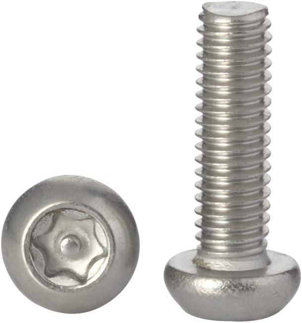 18-8 Stainless Steel Includes bit 20PCS M8 /× 10MM Button Head Torx Security Machine Screws Tamper Resistant Screw