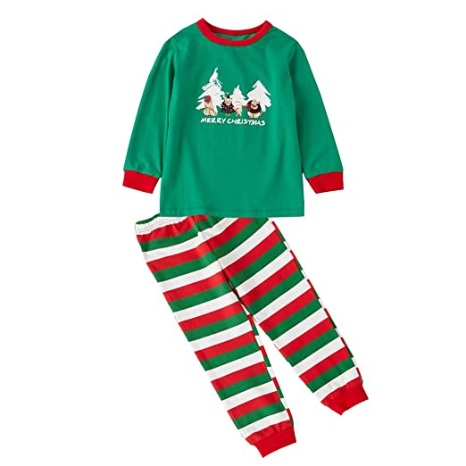 35a6f759d Matching Family Sleepwear Christmas ELF Printing Letters Pajamas Set ...