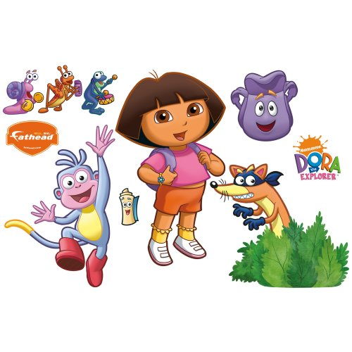 Dora the Explorer Backpack and Boots Wall Decal