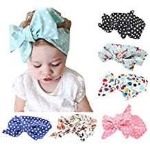 American Trends Baby Girl Newest Turban Headband Head Wrap Knotted Hair Band(I-9 Pairs-Mix Color)