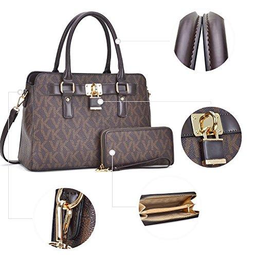 Padlock Handle Medium Shoulder ivory Pieces Purse Designer Bag Signature3734 2 Satchel Handbag Set Top wZgfP1w