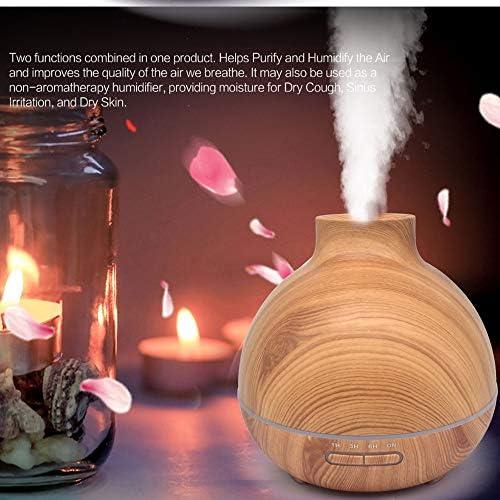 Holzkorn Ätherisches Öldiffusers.400ml Befeuchter mit kühlem Nebel und 7 Farbwechsel-LED-LED-LED-Leuchten Aroma Air Purifiers,Natural