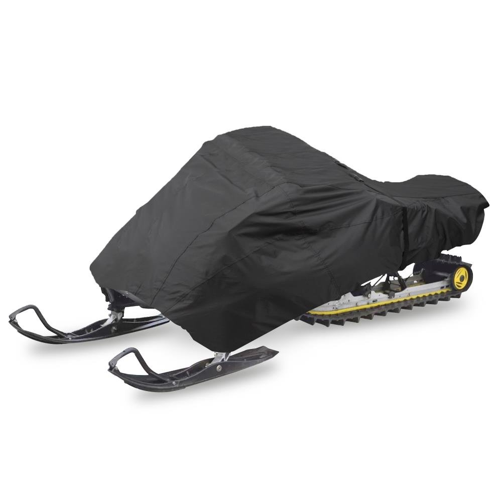 """Pyle 125"""" Universal Snowmobile Polyester Cover - Heavy Duty Fabric, Dual Air Vents, Non-Scratch Hood Liner & Elastic Cord - Waterproof Marine Grade Protection Against UV Damage PCVSNM13"""
