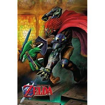 Amazon.com: Póster de la leyenda de Zelda Ganon y Ganondorf ...