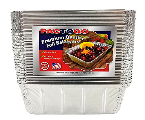 Pactogo 1 1/2 lb. IVC Disposable Aluminum Foil Loaf Bread Pan w/Clear Dome Lid (8'' x 4.1'' x 2.2'') - Heavy Duty Made in USA (Pack of 200 Sets) by PACTOGO (Image #3)