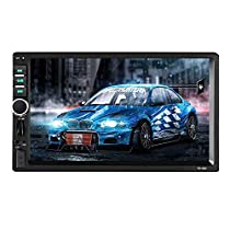 "Car Stereo - Double Din Car Radio Multimedia GPS Navigation 7"" Touch Screen Car Stereo with Bluetooth, Backup Camera /MP5 Player/TF/USB/FM + Remote Control byPodofo"