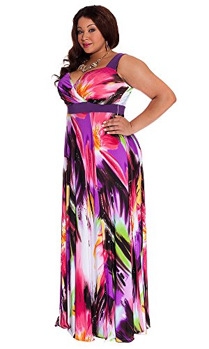 Igigi Womens Plus Size Tropical Beauty Maxi Dress